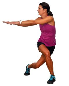 Lunges - More Lunges for the Hips, Glutes and Thighs: Crossover Lunges with Rotation