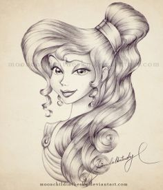 Pencil Portrait Mastery Meg Portrait BnW by moonchildinthesky. on ~ this is beautiful! Discover The Secrets Of Drawing Realistic Pencil Portraits Portrait Au Crayon, Pencil Portrait, Disney Sketches, Disney Drawings, Disney And Dreamworks, Disney Pixar, Disney Characters, Croquis Disney, Drawing Sketches
