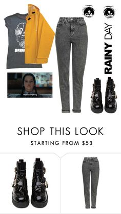 """""""Rainy dayyyyy"""" by gb041112 ❤ liked on Polyvore featuring Jeffrey Campbell and Topshop"""
