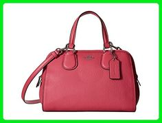 COACH Womens Pebbled Leather Mini Nolita Satchel SV/Dahlia Satchel - Shoulder bags (*Amazon Partner-Link)