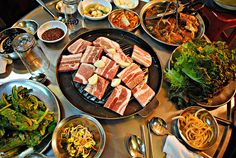 Samgyeopsal (삼겹살)- or is this my favorite Korean meal. Hard to decided by I could definitely eat this every day for a long long time!