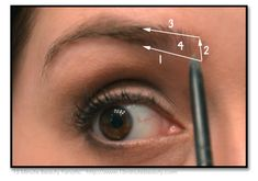 How to fill in your eye brows...some girls need to know how to do this properly
