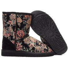 UGG Romantic Flower Boots 5801 Black, #ChristmasGifts, #GiftIdeas, #NewYearOutfit, #Wholesale, #Cheap, #Discount, #WinterOutfit, #2014fashion, #Womens, #Kids, #Mens, #UGG, #Boots