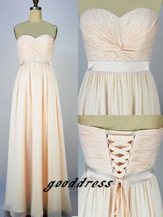 New Custom Handmade Pleated Sash Chiffon Lace Up Simple Formal Long Evening/Prom/Party/Bridesmaid/Homecoming/Cocktail Dress Gown on Etsy, $79.99