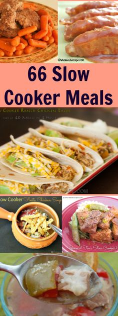 66 Slow Cooker Dinner Collection - you'll find TONS of inspiration here!