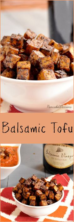 Crispy Balsamic Tofu - you will never think tofu is boring again! This is so easy to make and so tasty! #vegan #recipes #vegetarian #healthy #recipe