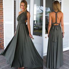 Back Cross V-neck Bandage Floor Length Prom Dress