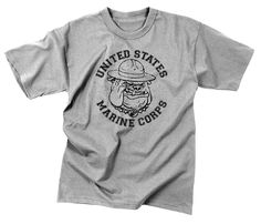 Vintage USMC Marine Corps Bulldog Logo Tee T Shirt Super Soft Cotton Shirts S-3X