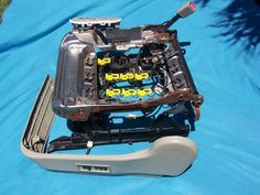 9904 Ford Mustang Power Seat Track assembly w/Wiring