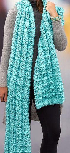 Crochet Scarf Design Free Knitting Pattern for Easy Everlasting Super Scarf - Scarf measures cm] wide x cm] long. Quick knit in jumbo yarn. Designed by Cathy Payson for Red Heart. Crochet Scarf Easy, Crochet Headband Pattern, Crochet Scarves, Free Crochet, Knit Crochet, Crochet Pattern, Crochet Hats, Knitting Scarves, Knit Cowl