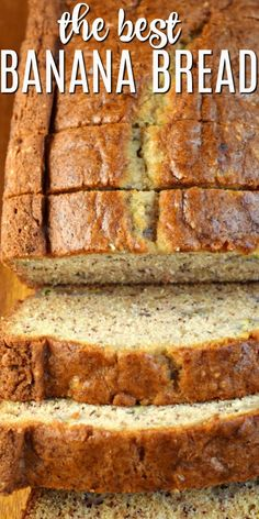 Sour Cream Banana Bread by Shugary Sweets Add a little texture and tang to your breakfast with this Sour Cream Banana Bread. The addition of sour cream in this recipe is pure genius for the most delicious, moist slice of banana bread! Easy Bread Recipes, Banana Bread Recipes, Homemade Banana Bread, Recipes With Bread Slices, Best Healthy Banana Bread Recipe, Banana Bread Recipe For 2 Loaves, Recipe For Banana Bread, Pineapple Banana Bread Recipe, Overripe Banana Recipes