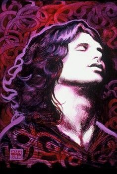 Doors Examiner interview with Jessie Buddell about her paintings including those of Jim Morrison.