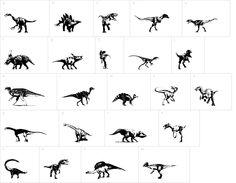 Dinosaurs dingbat font   DingbatDepot.com