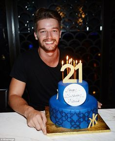 Patrick Schwarzenegger was joined by a team of friends to celebrate his 21st birthday at nightclub Hakkason in Las Vegas.