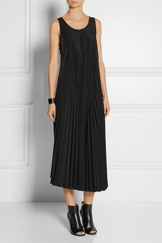 MM6 MAISON MARTIN MARGIELA Pleated crepe de chine midi dress $472.92 http://www.net-a-porter.com/products/496508