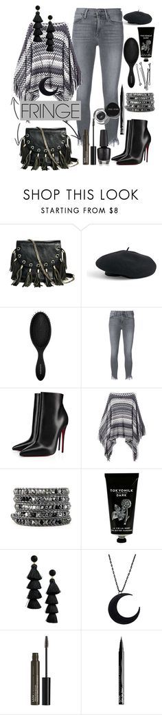 """Untitled #728"" by rosiepeter ❤ liked on Polyvore featuring GUESS by Marciano, Venus, Sephora Collection, Frame, Christian Louboutin, BOBBY, TokyoMilk, BaubleBar, NYX and Bobbi Brown Cosmetics"