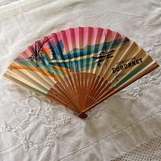 Vintage+PAPER+FAN+French+Hand+Held+Dubonnet+by+3rdshelffromthetop,+$15.00