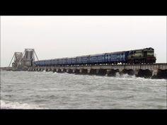 TRAIN ON THE DANGEROUS SEA, RAMESWARAM BRIDGE - YouTube