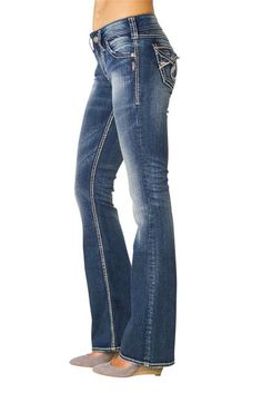 Silver Jeans Co Petite Suki $78 Womens Bootcut Jeans Med Wash 10 8 ...
