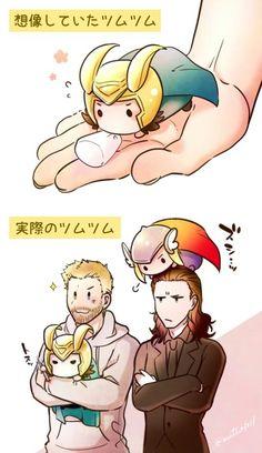Tsum tsum    Thor & Loki    Cr: mutsy