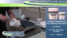 Screen Printing on Polypropylene Bags