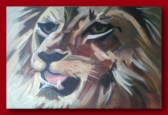 Lion - Acrylic on canvas 61 x 91cm