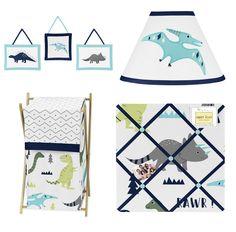 kids' blue dinosaur print duvet cover and pillow case set