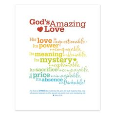 God's Amazing Love free printable from DaySpring