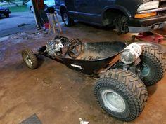 Ratrod Pics – Wheelbarrow Ratrods, Hotrods & More! Custom Radio Flyer Wagon, Radio Flyer Wagons, Vintage Go Karts, Electric Kart, Rat Rod Girls, Go Kart Frame, Homemade Go Kart, Go Kart Buggy, Kids Wagon