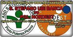 """(Diretta Streaming) - SANTO STEFANO SPORT vs POL. NORDEST CATELVECCHIO """"Palaprincipi"""" Via Piemonte - P. Potenza Picena (MC) Sabato 04.11.2017 Ore 17,00 Serie """"A"""" – 1° di Andata http://www.twinssebastiani.it/article.php?section=sport&id=2604"""
