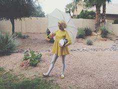 Me as the Morton Salt Girl, Completely Homemade Halloween Costume!