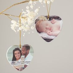 Personalized Heart Ornaments