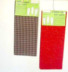 Vintage Skirt Fabric Red Tweed or Brown Plaid by nanascottagehouse