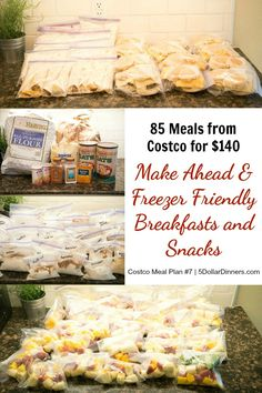 Find a couple of hours one afternoon to get ready for summer break with easy breakfasts and refreshing smoothies using our latest Costco Meal Plan for 85 Breakfasts & Snacks for only $140! | 5DollarDinners.com