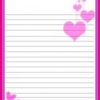 Pink Hearts Stationary - print unlimited pages of this wonder pink heart stationary as you write notes, keep journals, or just simply draw!