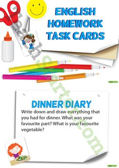 English Homework Task Cards and Worksheets - Lower Primary Teaching Resources – Teach Starter