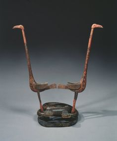 Drum Stand, 300-221 BC China, said to be from Changsha, Hunan province, State of Chu, Eastern Zhou dynasty (771-256 BC), Warring States period (475-221 BC)