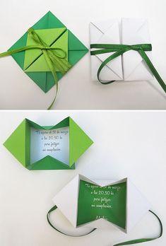 Origami Weihnachten Briefumschlag