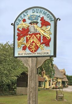 Village Sign of Great Dunmow, Essex, England