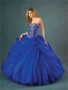 Ball Gown Sweetheart Neckline with Embroidery Floor Length Organza Quinceanera Dress QD1134 www.dresseshouse.co.uk £150.0000
