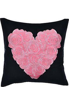 Punk Princess Heart Rose Pillow by Betsey Johnson