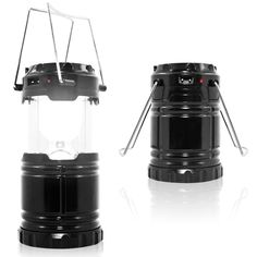 Rechargeable Camping Light, SENHAI DC and Led Solar Charging Portable Outdoor Lanterns with Battery Powered for Camping, Hiking, Fishing, Emergency Charging for Android Cellphone (US Plug, Black) -- Check out this great product.