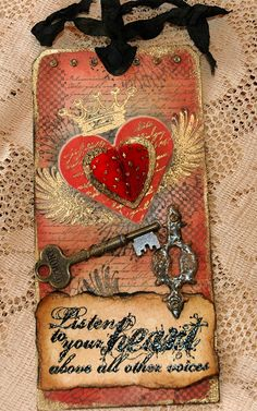 CREATIVITY IS CONTAGIOUS: A HEART TAG for Valentines Day maybe?