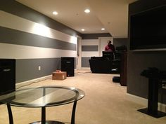 Basement Paint Idea...but Tilted 45 Degrees And Beginning In The Middle.