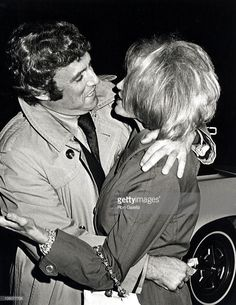 Burt Bacharach and Angie Dickinson during Burt Bacharach and Angie Dickinson Sighting at The Bistro - June 10, 1971 at The Bistro in Beverly Hills, California, United States.