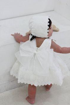 43ef37aeda Set i-Baby Christening DressBonnetBloomerShortdress