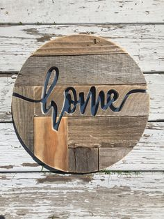 A personal favorite from my Etsy shop https://www.etsy.com/listing/556444457/pallet-home-sign-handcut-wood-sign