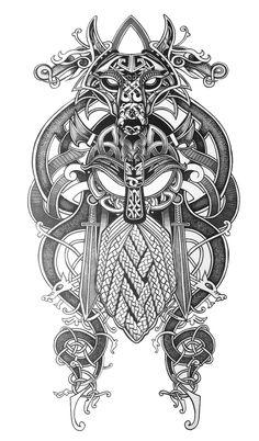 Next tattoo – Norse Mythology-Vikings-Tattoo Celtic Sleeve Tattoos, Viking Tattoo Sleeve, Viking Tattoo Symbol, Armor Tattoo, Norse Tattoo, Viking Tattoo Design, Skyrim Tattoo, Thai Tattoo, Maori Tattoos