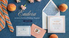 Lucky Luxe Couture Correspondence | Letterpress Wedding Stationery Eudora invitation