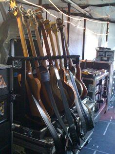 backstage U2. bass guitar rack.